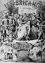 """""""Les brigands"""" de Giuseppe Verdi (1813-1901), compositeur italien (couverture de la partition). © Albert Harlingue / Roger-Viollet"""