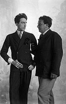 Arthur Honegger (1892-1955), Swiss composer and Jean Cocteau (1889-1963), French writer and director. France, October 1927. © Boris Lipnitzki / Roger-Viollet