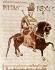 Pépin le Bref (715-768). Maire du Palais, roi des Francs. Codex des lois lombardes, Xème siècle. Cava dei Terrini. Archives de l'abbaye.      © Roger-Viollet