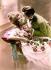 Couple 1900. Retro postcard. © Roger-Viollet