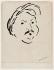"""Albert Marquet (1875-1947). """"Portrait de Balzac"""". Dessin à l'encre à la plume sur papier, 1946. Paris, Maison de Balzac.  © Stéphane Piera / Maison de Balzac / Roger-Viollet"""
