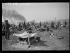 """Guerre d'Espagne (1936-1939). """"La Retirada"""". Miliciens républicains espagnols au camp de Boulou. Février 1939. Photographie Excelsior. © Excelsior - L'Equipe / Roger-Viollet"""