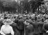 Funeral of Jean Jaurès (1859-1914), French politician. Speech of Marcel Sembat (1862-1922) on the Champs-Elysées. Paris (VIIIth arrondissement), August 1914. © Albert Harlingue/Roger-Viollet