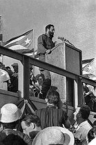 Fidel Castro (1926-2016), Cuban revolutionary and statesman, making a speech. Cuba, 1962. © Gilberto Ante/BFC/Gilberto Ante/Roger-Viollet