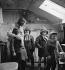 Children leaving for school. Large family. Paris (France), circa 1956. © Janine Niepce/Roger-Viollet