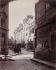 Angle de la Rue Boutebrie et de la Rue de la Parcheminerie, au fond le musée de Cluny. Paris (VIème arrondissement). Photographie d'Eugène Atget (1857-1927). Paris, musée Carnavalet. © Eugène Atget / Musée Carnavalet / Roger-Viollet