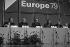 Congrès Socialiste Européen. Willy Brandt, Pontillon, François Mitterrand, Anker Jorgensen, Joop den Uyl... Paris, 1979. © Roger-Viollet