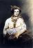 """Victor Hugo (1802-1885). """"Femme aux seins nus, un foulard autour du cou"""". Plume et lavis d'encre brune sur crayon de graphite, encre noire, fusain, gouache, feuille de papier vergé dont un bord a été arraché d'un carnet. Paris, Maison de Victor Hugo.  © Maisons de Victor Hugo/Roger-Viollet"""