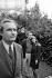 "Michel Bouquet (born in 1925), Stéphane Audran (1932-2018) and Maurice Ronet (1927-1983), French actors, during the shooting of ""La femme infidèle"", film by Claude Chabrol. 1968. Photograph by Georges Kelaïditès (1932-2015). © Georges Kelaïditès / Roger-Viollet"