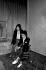 Serge Gainsbourg (1928-1991), chanteur et compositeur français, et Bambou (née en 1959), chanteuse française. 1er avril 1982.   © Roger-Viollet