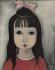 """Foujita (Léonard Tsuguharu Foujita, 1886-1968). """"Fillette de face"""". Huile sur toile, 1920. Paris, musée d'Art moderne. © Musée d'Art Moderne/Roger-Viollet"""