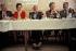 Jacques Chirac (1932-2019), homme politique français, lors d'un repas avec des militants. Bugeat (Corrèze), mai 1991. © Jean-Paul Guilloteau / Roger-Viollet