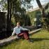 Claude François (1939-1978), French singer, in his garden. Dannemois mill (France), 1970. © Roger-Viollet