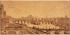 Anonyme. Le pont des Arts, le Pont Neuf, la Cité et le jardin de l'Infante, époque de Louis-Philippe. Paris, 1830-1848. Plume. Paris, musée Carnavalet. © Musée Carnavalet/Roger-Viollet
