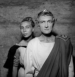 """Silvia Monfort et Jean Vilar dans """"Cinna"""" de Pierre Corneille. Festival d'Avignon, juillet 1954.    © Studio Lipnitzki/Roger-Viollet"""