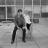 "Shooting of ""Dragées au poivre"" (Sweet and Sour), film by Jacques Baratier. Guy Bedos and Sophie Daumier. France-Italy, on April 30, 1963. © Alain Adler / Roger-Viollet"