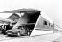 Maquette à taille réelle d'un train-navette pour le tunnel sous la Manche. 29 juillet 1987. © PA Archive / Roger-Viollet