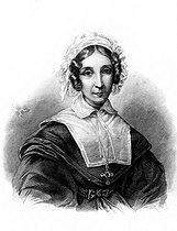 Céleste Amable Buisson de la Vigne, viscountess de Chateaubriand, wife of Francois-René de Chateaubriand. Engraving from the drawing by Miss Lorimier made in 1840. © Roger-Viollet