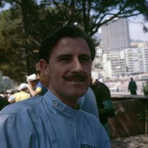 Graham Hill (1939-1975), British racing driver and world champion of drivers in 1962. Monaco Grand Prix, 1962.     © Roger-Viollet