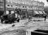 Dégâts sur Hampstead Street suite au passage d'une forte tempête. Londres (Angleterre), 26 juillet 1946. © PA Archive/Roger-Viollet