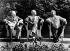 Guerre 1939-1945. Winston Churchill, Harry Truman et Joseph Staline, lors de la conférence de Potsdam (Allemagne), juillet 1945. © TopFoto/Roger-Viollet