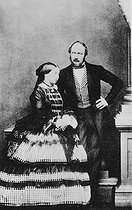 Victoria Ist (1819-1901), queen of England and her husband the prince Albert of Saxe-Cobourg-Gotha (1819-1861). © Roger-Viollet