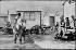 Beach huts, around 1900. © CAP / Roger-Viollet
