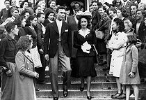 Danielle Darrieux's wedding with Porfirio Rubirosa. Vichy (Allier), 1942. © LAPI/Roger-Viollet
