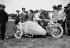 Meuriot on a René Gillet sidecar, for the Grand Prix du Motocycle-Club de France. Fontainebleau (France), on June 28, 1914. © Maurice-Louis Branger/Roger-Viollet