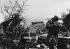 World War II. German anti-aircraft defence gun of the Atlantic Wall, 1944. © LAPI / Roger-Viollet
