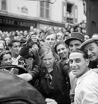 World War II. Liberation of Paris. Woman accused of collaboration, August 1944. Photograph by Roger Berson. © Roger Berson/Roger-Viollet