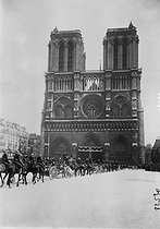 Funeral of Alfred Picard (1844-1913), French engineer and Minister of the Navy. Notre-Dame de Paris Cathedral, on March 14, 1913. © Roger-Viollet