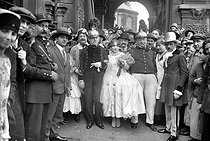 Wedding of the Lieutenant of the Montmartre fire brigade. Paris, circa 1920. © Roger-Viollet