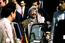 Yasser Arafat (1929-2004), Palestinian politician. Paris, on May 2nd, 1989. © Roger-Viollet