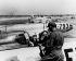 Guerre de Corée (1950-1953). Lockheed P-80 Shooting Star, avion de chasse de l'armée américaine, sur un aérodrome. Corée du Sud, 1951. © Ullstein Bild / Roger-Viollet