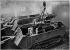 World War One. Installation of a power generator on a Saint-Chamond tank, 1917. © Roger-Viollet