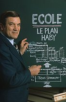 René Haby (1919-2003), French politician, minister of Education, originator of a reform on the educational system in France, 1975. © Jean-Régis Roustan/Roger-Viollet