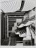 Vue latérale de la grande salle, Opéra Bastille, architecte Carlos Ott, Paris (XIIème arr.). 1989. Photographie de Felipe Ferré. Paris, musée Carnavalet.  © Felipe Ferré / Musée Carnavalet / Roger-Viollet