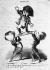 Honoré Daumier (1808-1879). Victor Hugo et Emile de Girardin cherchant à élever le prince Louis sur un pavois... Actualités - n° 171. (Le Charivari du 11 décembre 1848). Lithographie, 1848. Paris, Maison de Victor Hugo. © Maisons de Victor Hugo/Roger-Viollet