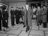 John Foster Dulles (1888-1959), secrétaire d'Etat américain. Orly, 20 octobre 1954. © Roger-Viollet