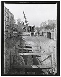 Construction du chemin de fer métropolitain municipal de Paris : Ligne 2 sud, 7e lot . 40 : Tranchée couverte de la rue de l'Orillon. 30 octobre 1901. Photographie de Charles Maindron (1861-1940). Paris, bibliothèque de l'Hôtel de Ville.  © Charles Maindron/BHdV/Roger-Viollet