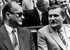 Wojciech Jaruzelski (1923-2014), homme d'Etat polonais et Lech Walesa (né en 1943), homme d'Etat polonais et président du Solidarnosc. Pologne, 1989. © Ullstein Bild / Roger-Viollet