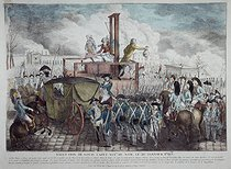 Anonymous. Execution of the King Louis XVI of France (1754-1793). Paris, on January 21, 1793. Engraving. Paris, musée Carnavalet.  © Philippe Ladet/Musée Carnavalet/Roger-Viollet