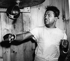 Sugar Ray Robinson (1921-1989), boxeur américain, s'entrainant. 1957. © Ullstein Bild / Roger-Viollet