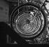 Wheels of bicycles. Paris, September 1954. © Roger Berson/Roger-Viollet