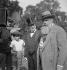"""Tristan Bernard (1866-1947), écrivain et auteur dramatique français sur le tournage du film """"Les Deux Canards"""" d'Eric Schmidt. Paris, 1933. © Boris Lipnitzki/Roger-Viollet"""