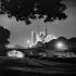 The Pont de l'Archevêché and Notre-Dame de Paris Cathedral illuminated. Paris (IVth arrondissement), 1965-1970. © Ray Halin / Roger-Viollet