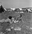 Camping and Culture association. La Roche-Guyon (France), 1936-1938. Photograph by Marcel Cerf (1911-2010). Bibliothèque historique de la Ville de Paris. © Marcel Cerf/BHVP/Roger-Viollet