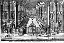 Antoine Aveline (1691-1743). Choir of the Notre-Dame de Paris Cathedral. Engraving, early 18th century. French National Library. © Roger-Viollet