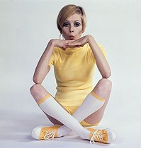 Twiggy (born in 1949), English model, circa 1965.   © Roger-Viollet